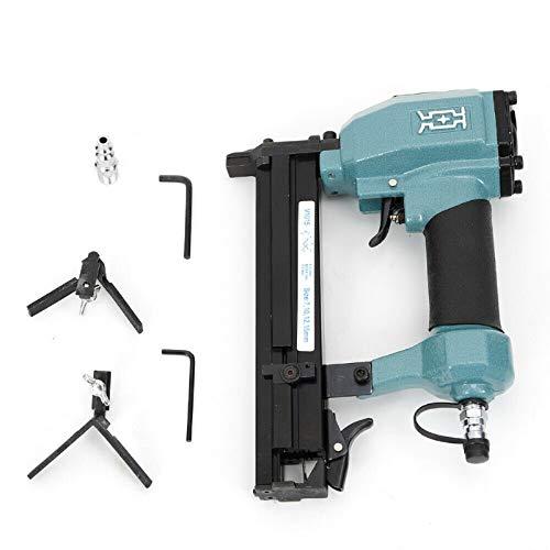 Pneumatic V-Nailer Joining Gun Kit 4-7 Bar V-Nails Picture Frame Joiner Door Assembly Tool 200Pcs 0.3-0.6 Inch Angle Nail with Case