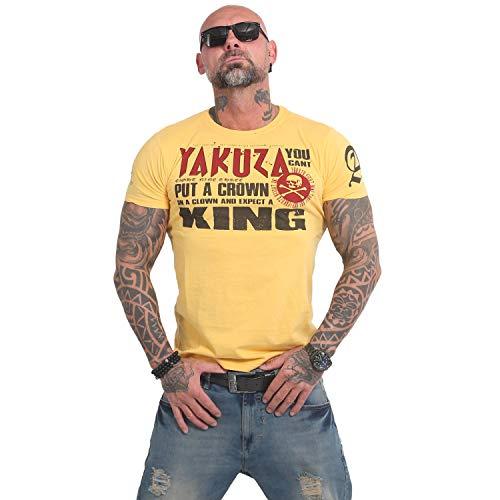 Yakuza Herren Dead Punk T-Shirt , Pale Marigold, 3XL