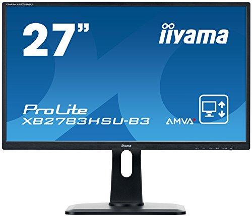 iiyama ProLite XB2783HSU-B3 68,6cm (27 Zoll) AMVA+ LED-Monitor Full-HD (VGA, HDMI, DisplayPort, USB2.0, Höhenverstellung, Pivot) schwarz