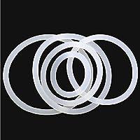 WYanHua-Oリングガスケット、座金・ワッシャー. 10ピースシリコーンOリングガスケット、防水洗濯機ゴム断熱式丸型シールホワイト 素材製 (Color : White, Size : OD 23mm)