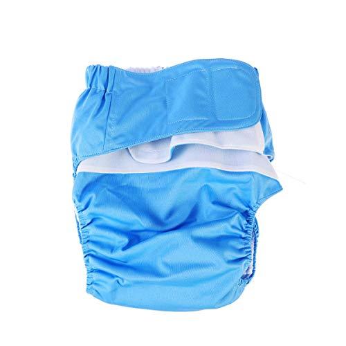 Luierluier voor volwassenen, herbruikbare wasbare verstelbare luierbekleding, anti-lekontwerp en superabsorberende prestaties