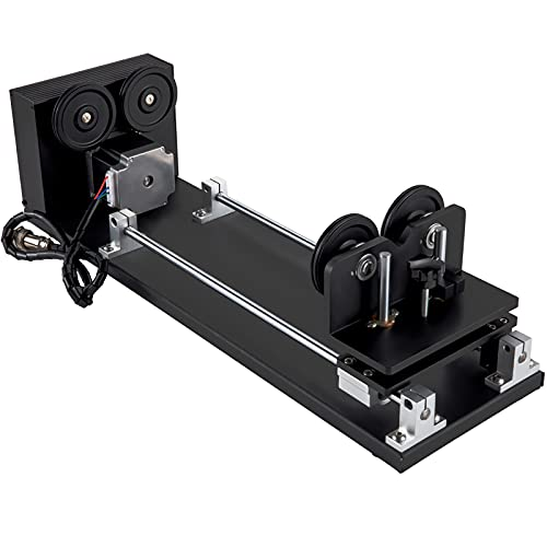 VEVOR Rotary Axis Attachment, 4 Wheels Laser Rotary Attachment, 57 Stepper Motor Laser Cutter Rotary, 50 mm-350 mm Carve Length for Engraving Cutting Machine Spherical Carving Cylinder Carving