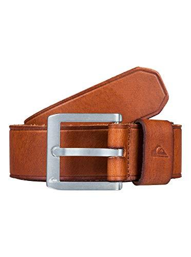 Quiksilver - Cinturón de Cuero - Hombre - XL-38 - Marrón