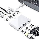 feichang Accessoires de téléphone portable 7 en 1 USB-C Hub station d'accueil avec écran HD 4 K /...