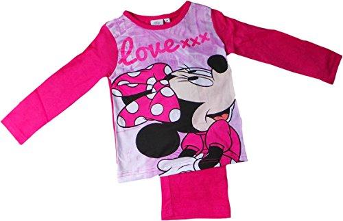 Disney Minnie Maus Schlafanzug - Love XXX - Pink/Mehrfarbig/Glitzereffekt