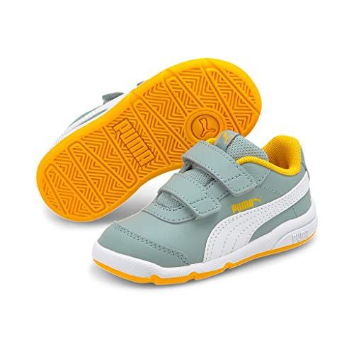 PUMA Stepfleex 2 Sl Ve V Inf, Baskets Unisexe Bébé, Gris (Quarry-Puma White-Spectra Yellow), 24 EU