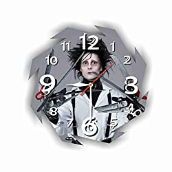 Art time production Edward Scissorhands 11'' Handmade Wall Clock - Get Unique décor for Home or Office – Best Gift Ideas for Kids, Friends, Parents and Your Soul Mates