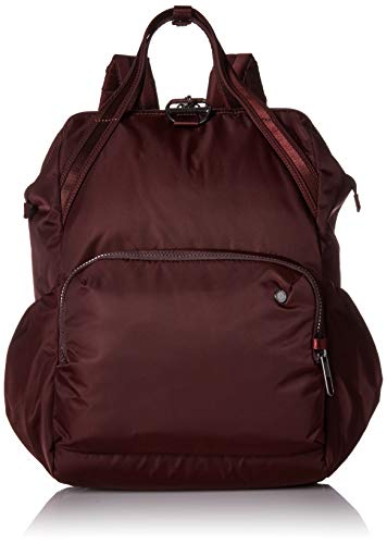 PacSafe Women's Citysafe CX 17L Anti Theft Backpack-Fits 16 inch Laptop, Merlot, One Size