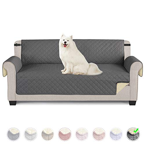 TAOCOCO Funda de sofá Impermeable Funda de cojín de protección para Mascotas Funda de sofá antisuciedad (Gris Oscuro/ 3 Plazas 165 * 190cm)
