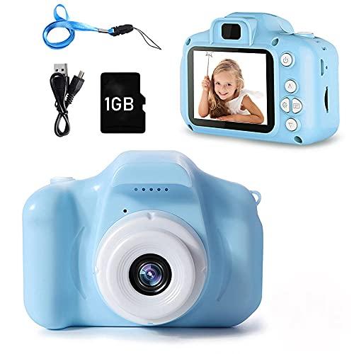 PTHTECHUS Fotocamera per Bambini, Digitale Fotocamera Bambini con Scheda SD 1 GB, Portatile Digital...