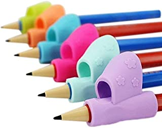 Warmtaste Pencil Comfortable Grip,New Design with Ergonomic,Grip Posture Correction Tool for Training Children Pencil Holder Pen Writing Aid,6 Pack