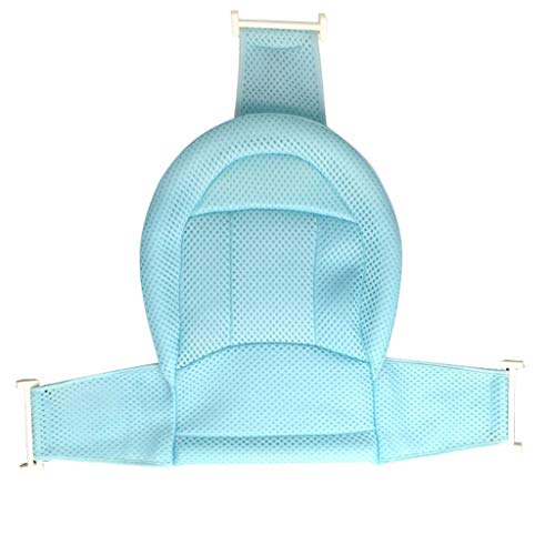 Babybadesets für Unterwegs Neugeborenes Bad Artifact Baby-Bad-Net-Baby-Bad Ständer Universal Anti-Rutsch-Reclining Net Bag Kinderbadematte Baby-Bad-Unterstützung Sitz (Color : Blue)