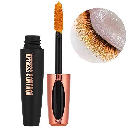 Rímel de maquillaje colorido de 13 g, rímel de fibra resistente al agua de larga duración para rizar el alargamiento de las pestañas gruesas, rímel dramático a prueba de manchas(1#)