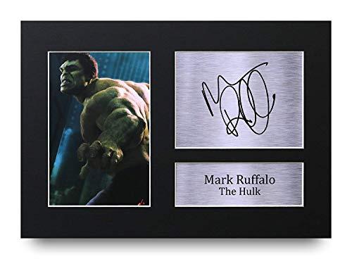 HWC Trading Mark Ruffalo A4 Ungerahmt Signiert Gedruckt Autogramme Bild Druck-Fotoanzeige Geschenk Für The Hulk The Avengers Filmfans