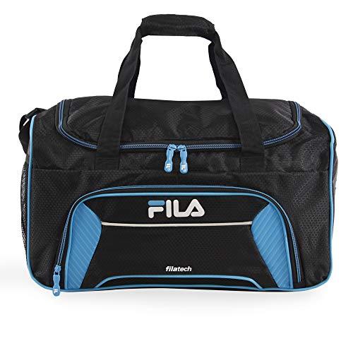 Fila Orson Small Sports Duffel Bag, Black/Blue, One Size