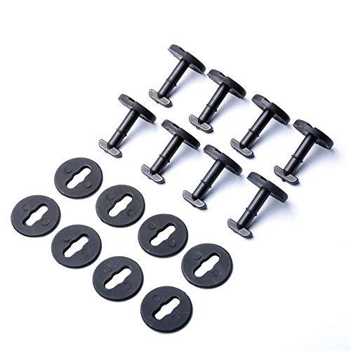 OTUAYAUTO supporti per tappetini universali clip di fissaggio a scatto rotondo, 20 pezzi