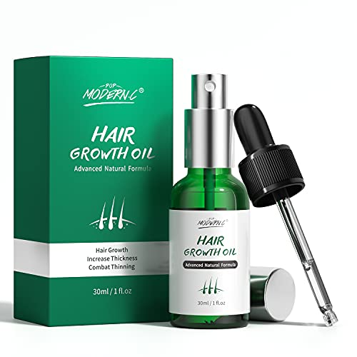 Hair Growth Serum, Natural Ginger Hair Growth Oil - Anti Hair Loss Hair Growth Treatment, Promotes Hair Growth Longer Repairs Damaged Hair Strengthen Hair Roots Thickening & Regrowth