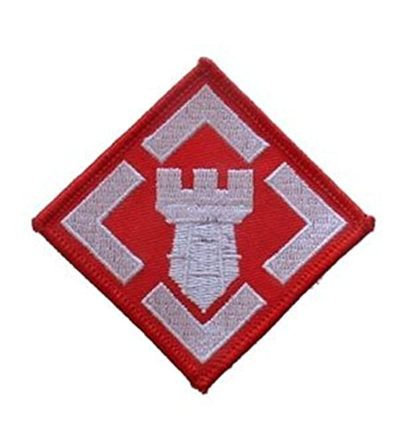 Army 20th Engineer Brigade Iron On Patch 2 1/4