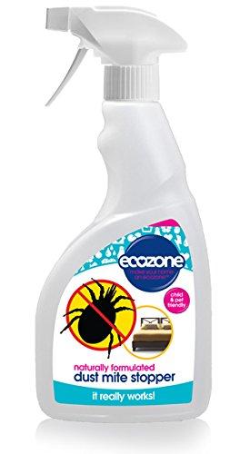 Ecozone - Tapón antiácaros, 500 ml, fórmula natural, larga duración, apto para niños y mascotas, ideal para alérgicos