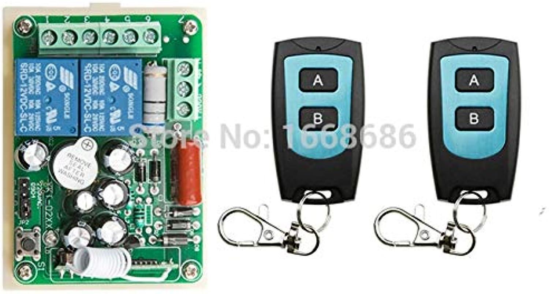 New AC 220V 2 CH 2CH RF Wireless Remote Control Switch System teleswitch 2X Transmitter + 1 X Receiver,315 433 MHZ