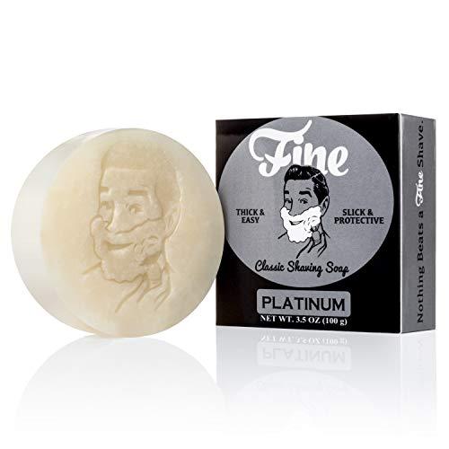 Fine Platinum Shave Soap Refill - Triple Milled Tallow Shaving Soap Puck For Men - A Wet Shavers Favorite