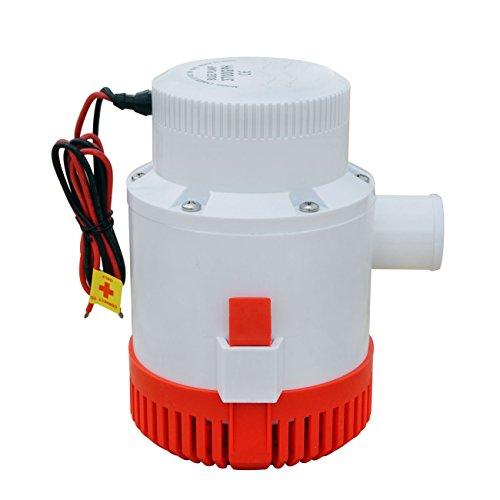 NUZAMAS Bilgenwasserpumpe, 12 V, tauchfähig, 3700 GPH, 40 mm, elektrische Pumpe für Wohnwagen, Camping, Boot, kleines Schwimmbad und Springbrunnen