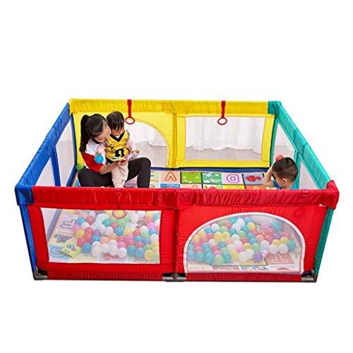 Spielplatzzaun für Kinder mit Laufgitter, Zaun, Spielcenter tragbar mit Tragetasche und atmungsaktivem Mesh für Neugeborene, Indoor- und Outdoor-Spiele (Bälle enthalten) (Size : 95 * 120 * 70cm)