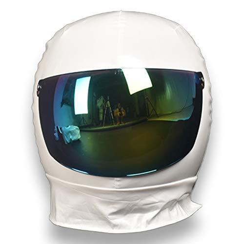 Lamerpic Astronauten Cosplay Kostüm mit Helm für Erwachsene und Kinder, Weltraumanzug, Universum, Star-Party, Damen, Herren, Kleidung, Performance, Requisiten (Kinder 150 cm, Einzelhelm)