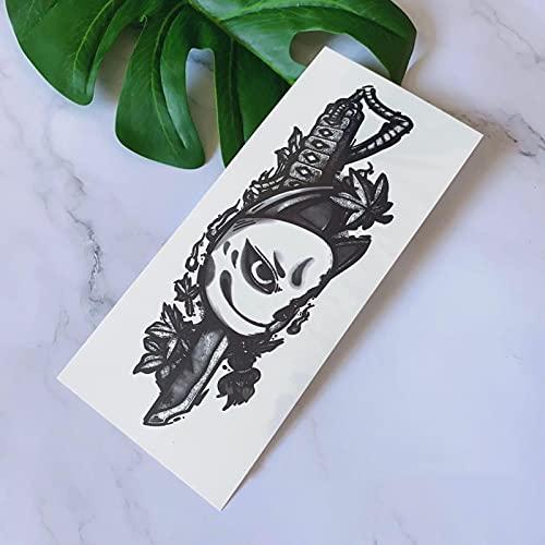 YLGG Etiquetas engomadas temporales del Tatuaje de la Moda del Cuchillo de la Flor de Cerezo, adecuadas para Hombres y Mujeres, Impermeables, extraíbles