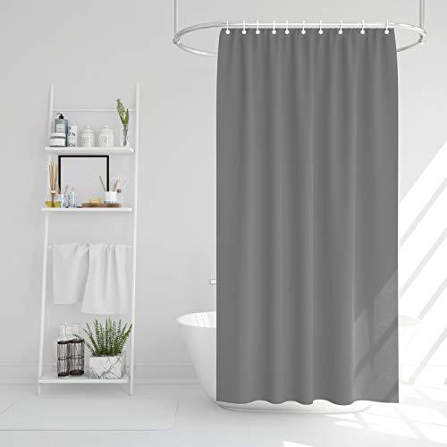 EKNA Badewannenvorhang 173x183 in grau - Duschvorhang - Schimmelresistenter & Wasserabweisend Shower Curtain