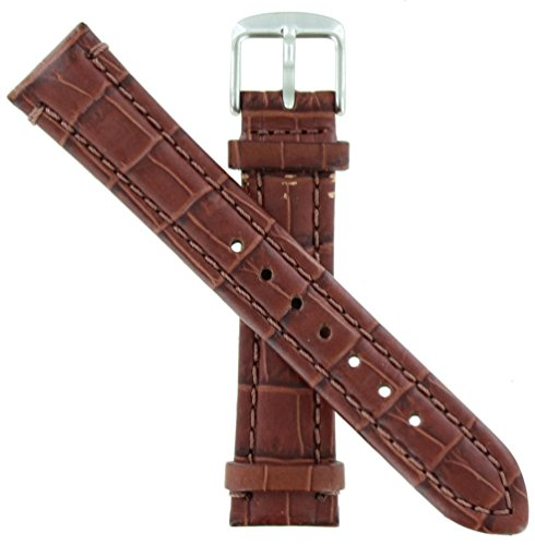 WBHQ 18mm Red Brown 454 Emperator Chrono Watch Band