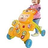 LFFME Andador Multifunción para Niños, Andador De Velocidad Ajustable con Luz Y Música, Andador De Empuje 2 En 1 para 1-3 Años, Regalo De Cumpleaños para Niños Y Niñas