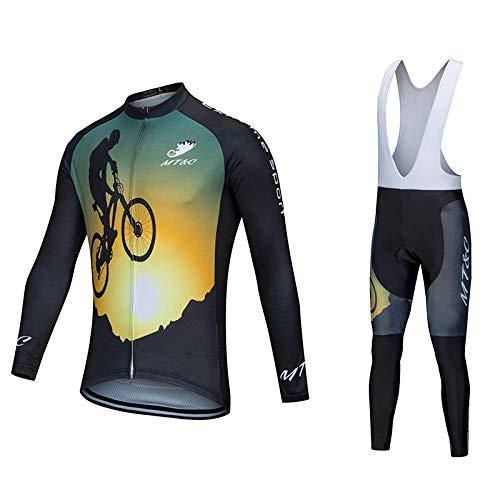 LybMjG MTB Ciclismo Maillots, Jersey De Ciclismo Retro para Equipo De Competición,...