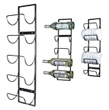 5 Bottle Wall Mounted Metal Wine Rack, Hand Towel Rack