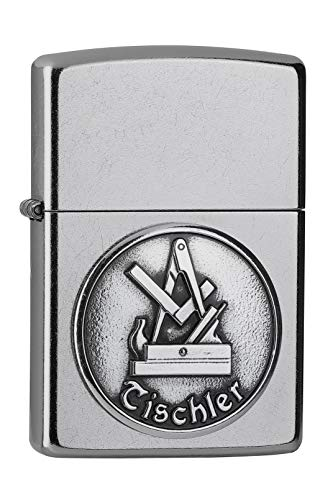 Zippo Tischler Street Chrome Emblem Handwerker 2006326 Spring 2019 NEU&OVP