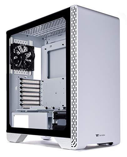 Thermaltake S300 強化ガラス スノーエディション ATX ミッドタワー コンピューターケース 120mm リアファン付き CA-1P5-00M6WN-00