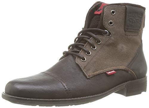 Levi's Herren Fowler Biker Boots, Braun (Dark Brown 29), 45 EU