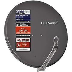 DUR-line Select 75cm x 80cm En aluminium Bol satellitaire Anthracite - [ 3X Test TRÈS BIEN ] Aluminium Sat