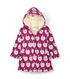 Hatley Splash Jackets Impermeable, Rosa (Sherpa Lined Apple Orchard 650), años (Talla del Fabricante: 10) para Niñas