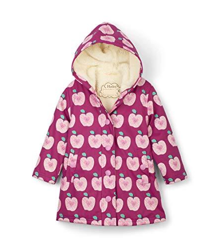 Hatley Mädchen Splash Jackets Regenmantel, Pink (Sherpa Lined Apple Orchard 650), Jahre (Herstellergröße: 10)
