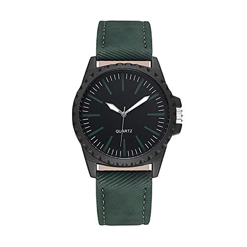 Relojes Relojes Clásicos para Mujer, Correa De Cuero De Cuarzo Informal, Relojes De Cuarzo De Acero Inoxidable, Reloj Unisex, Reloj Informal D