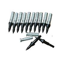 ACCMOS 75グレイン ターゲットアローポイントアーチェリー ブロードヘッドとともにアルミニウム インサートID 6.2mmフィットにとってカーボン/グラ スファイバー/アルミニウムアローシャフト (36pc)