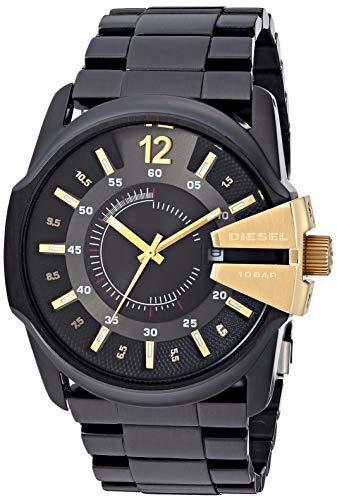 Diesel Men's Master Chief Quartz Watch with Stainless-Steel-Plated Strap, Black, 25 (Model: DZ1209)