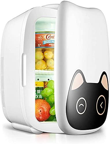 LLDKA 6L Mini refrigerador Coche Refrigerador Bebida Finder Pequeño para Bebidas Almacenamiento de Bebidas, Frutas y cosméticos 12V / 220V