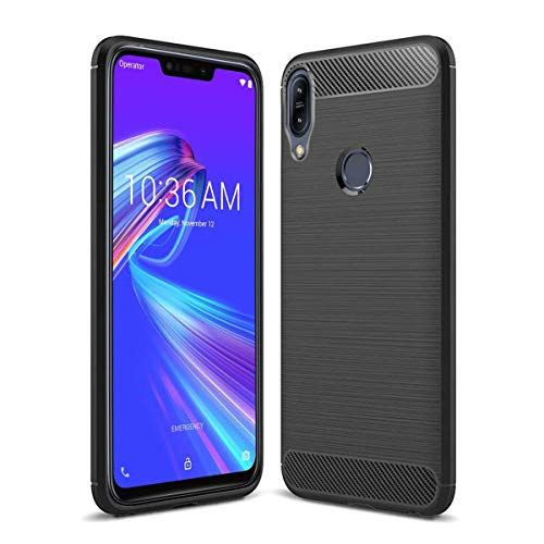 JGD PRODUCTS Carbon Fiber Armor Drop Tested Shock Proof TPU Back Case Cover for Asus Zenfone Max M2 (2018)