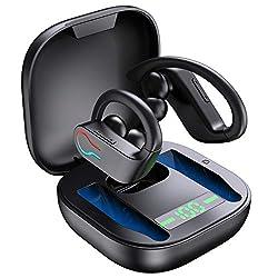 bluetooth 5.1 et microphone intégré: Écouteur sans fil sport adoptent la version bluetooth 5. 1 pour garantir une connexion plus stable, dites adieu aux connexions instables une fois pour toutes. microphone intégré de haute qualité perte qui permet u...