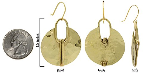 Gold Crescent Earring Hammered Ethnic   SPUNKYsoul Collection