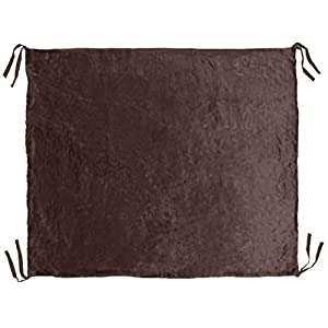 Furhaven Pet Dog Bed Blanket – Detachable Plush and Cozy Faux Fur Pet Cot Bed Blanket for Dogs and Cats, Espresso, Large