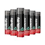 Gillette Classique Gel à Raser Peaux Normales pour Homme 200 ml (Pack de 6)