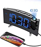 Best Alarm Clock With Radios - PICTEK Projection Alarm Clock, 15 FM Radio Alarm Review